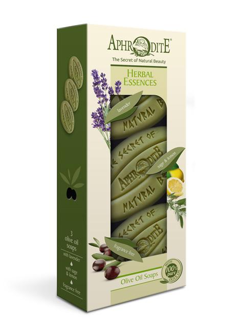 """Набор мыла оливкового """"Ароматные травы"""". 3 куска"""