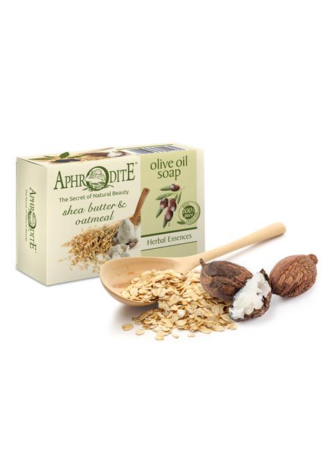 Оливковое мыло с маслом дерева ши и овсянкой