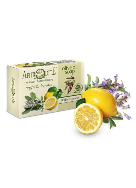 Оливковое мыло с шалфеем и лимоном